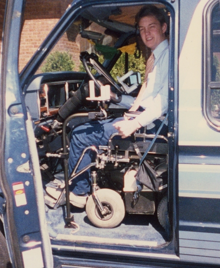 Me in my first handicapped accessible van